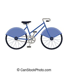 Walking bicycle with large shields and curves driving....