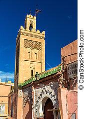 Buildings in Medina of Marrakesh, a UNESCO heritage site in...