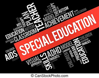 Special Education word cloud collage, education concept...