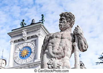Statue of the 16 century. Statue of Hercules.