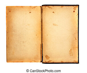 Grungy Old Tattered 1920s Book Open - Distressed Stained Old...