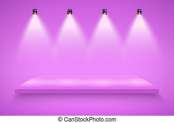 Purple Presentation platform - Light box with purple...