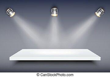 White Presentation platform - Light box with white...