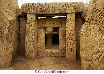 The Main trilithon at the South Temple of the Mnajdra...