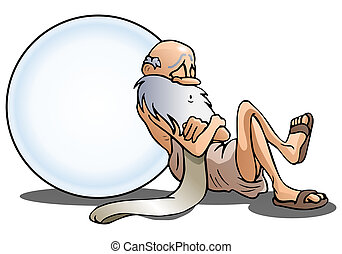 sleeping old man - illustration of a sleeping old man take a...