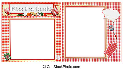 Cooking Scrapbook Frame Template - Chef Square Frame...