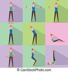 Girl Fitness Icon Active Lifestyle