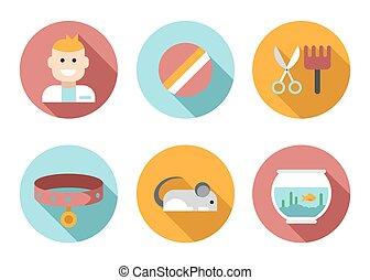 Web icon set Pet, Vet, Pet Shop - Web icon set Pet, vet, pet...