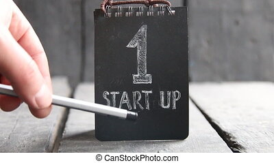 concept of new business project startup development -...