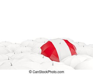 Umbrella with flag of peru