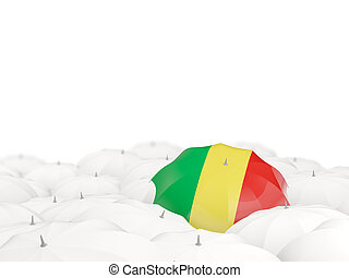 Umbrella with flag of republic of the congo isolated on...