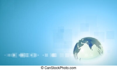 Business background - globe in loop