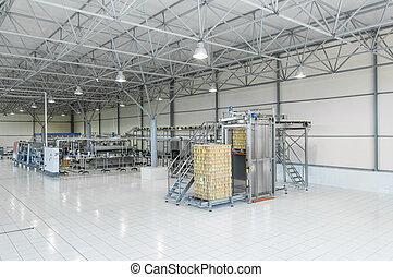 factory for bottling beverages in cans
