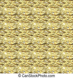 Background Crumpled gold foil