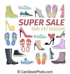 Super Sale. End off Season. Big Shoes Collection - Super...
