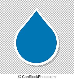 Water Drop Label