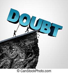 Overcome Doubt Concept - Overcome doubt concept and increase...