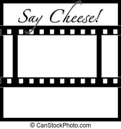 Negative Strip Scrapbook Frame Template - Negative Strip...