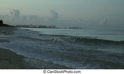 View Of Naples Florida From Bonita Beach - A low angle view...