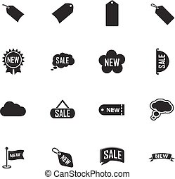 New stiker and label set icons - New stiker and label icon...
