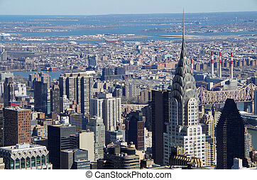 Aerial view of Manhattan, New York City. USA.