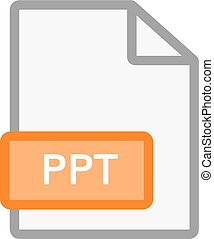 PPT file icon. Vector ppt format document symbol