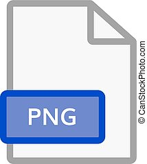 png file icon. Graphic document in png format
