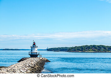 Spring Point Ledge Light Portland Maine - Spring Point Ledge...