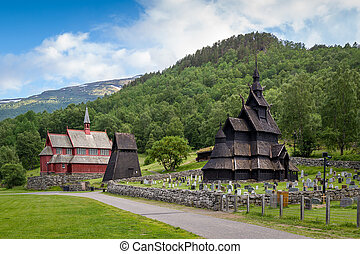 Borgund Stave Church historical complex - One of the oldest...