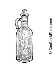 Bottle of olive oil.