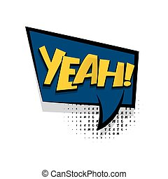 Lettering yeah comic text speech bubble - Lettering yeah,...