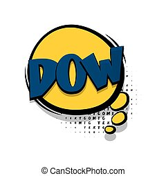 Lettering dow comic text speech bubble - Lettering dow....