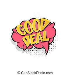 Lettering good deal comic text bubble
