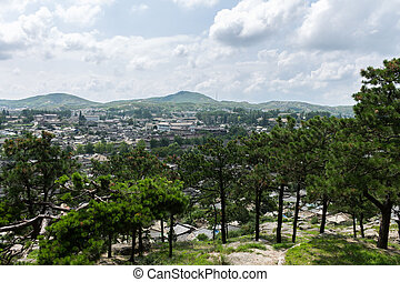 Kaesong, North Korea - view of the city of Kaesong North...