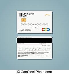 Bank credit debit card - A realistic bank credit or debit...