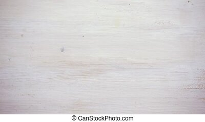 Dyed wooden background white, moving, motion by wave