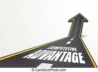 road to Competitve Advantage - detailed illustration of a...