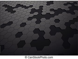 abstact hexagon background - illustration of an abstact...