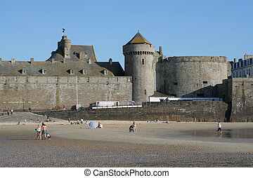 Beach and city walls - Beach and City Defence Walls,...