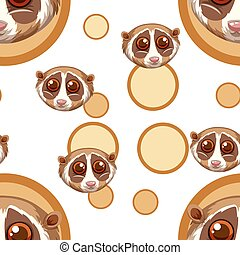 Seamless background with meerkat faces illustration