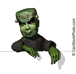 Cartoon Frankenstein on Edge - A friendly cartoon...