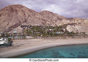 Eilat and red sea - Coast of the Red Sea Gulf of Eilat in...