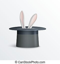 Rabbit in magician hat
