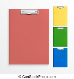 Realistic clipboards - Set of realistic clipboards isolated...
