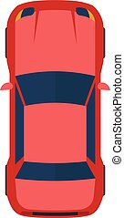 Vector illustration of modern flat red car.