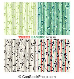 Bamboo pattern - Vector tropical seamless nature...