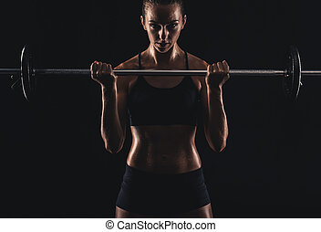 Getting stronger every day - Shot of a beautiful young woman...