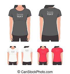 Women's t-shirt design template