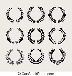 Wreaths vector set