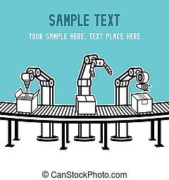 industriell,  robot,  arm